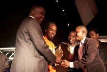 One of the teams from Uganda, EasyOrder receive their award